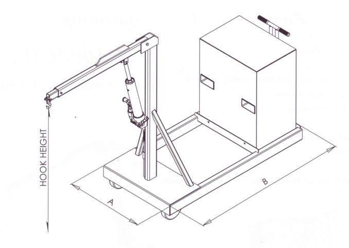 shop crane dimensions