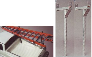 Cross Tread Removable Diamond Plate Aluminum Truck Rack