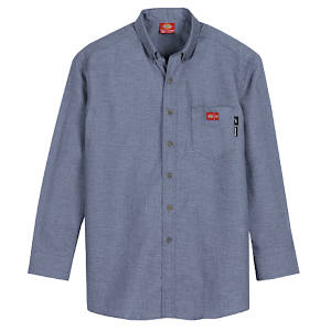 Flame Resistant Long Sleeve Chambray Shirt