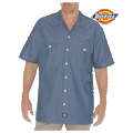 Relaxed Fit Short Sleeve Chambray Shirt