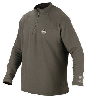Core performance 6445 fleece mid layer thermal shirt for Zip front flannel shirt