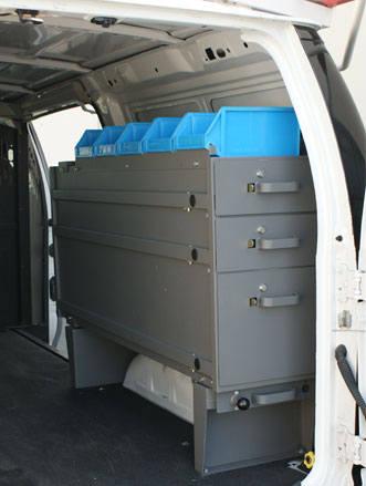 Pivot Pro drawers in van