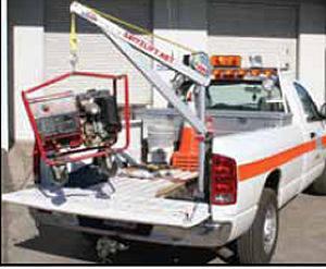 pickup truck crane lifting generator