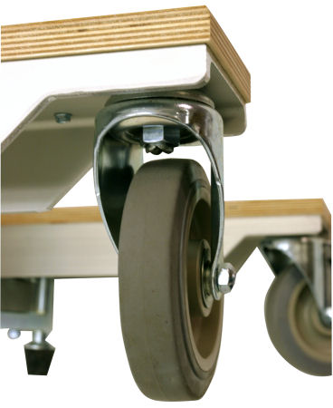 Kitchen cabinet installation lift casters