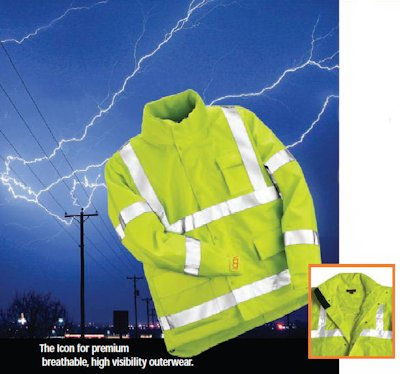 Icon reflective high visibility jackets