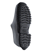rubber overshoes cleated sole