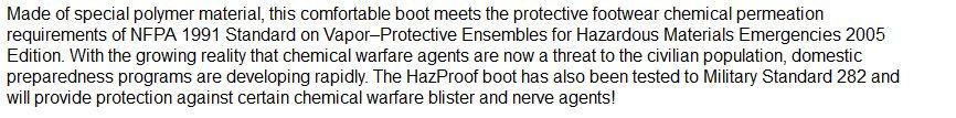 hazmat boots description