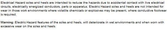 elecrical hazard