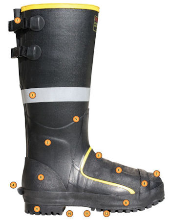 rubber metatarsal boots