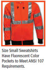 small high visibility sweatshirt