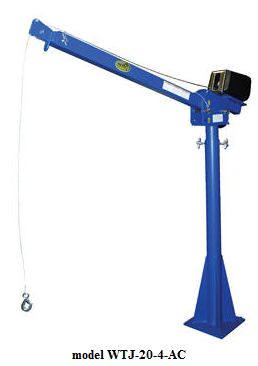 DC powered jib crane