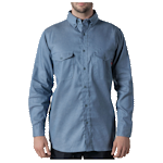 Walls® Flame Resistant Button-Down Chambray Work Shirt