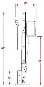portable truck crane dimensions
