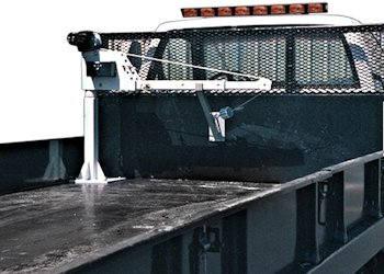 truck crane on flatbed