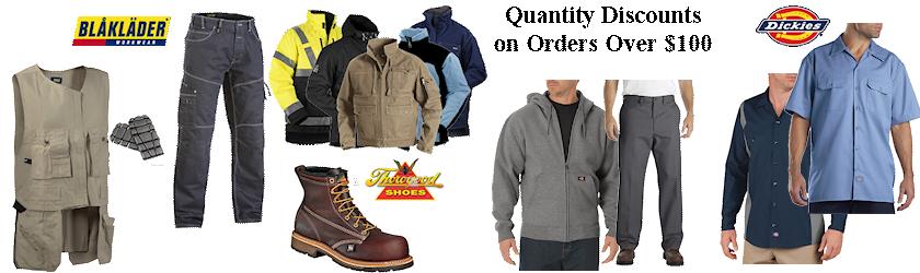 work clothing quantity discounts