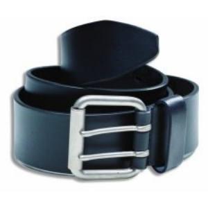 heavy duty black leather belt for work