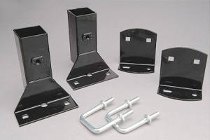 truck laddder rack mounting post