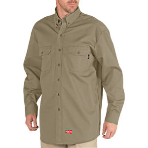 Flame Resistant Long Sleeve Twill Button-Down Shirt