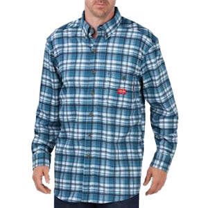 Flame Resistant Long Sleeve Plaid Shirt