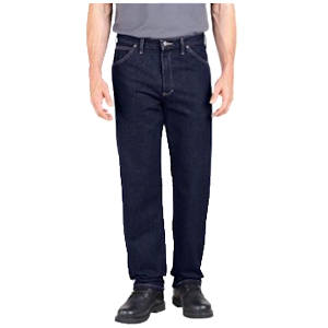 Relaxed Fit Industrial Denim Jeans