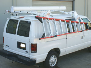 drop down van ladder rack