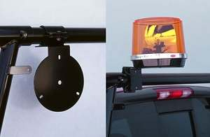 light mount for pick-up truck rack