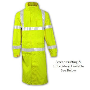 Icon High Visibility Reflective Raincoat