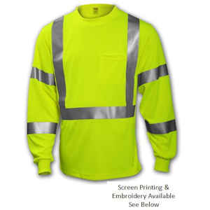 Class 3 Long Sleeve Hi Vis Shirt