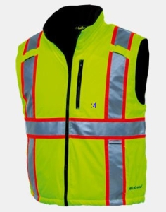 Mountain Pass Insualted Vest Hi Vis Green
