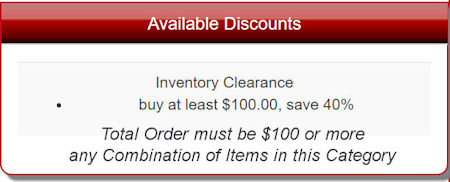 Inventory Clearnace Sale on Workwear