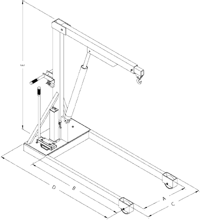 floor shop crane dimensions