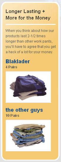 Blaklader work pants