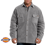 Relaxed Fit Icon Micro Fleece Quilted Shirt Jacket TJ202