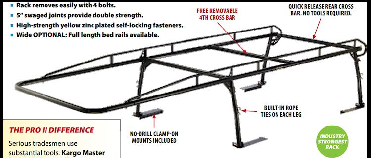 pickup truck rack construction