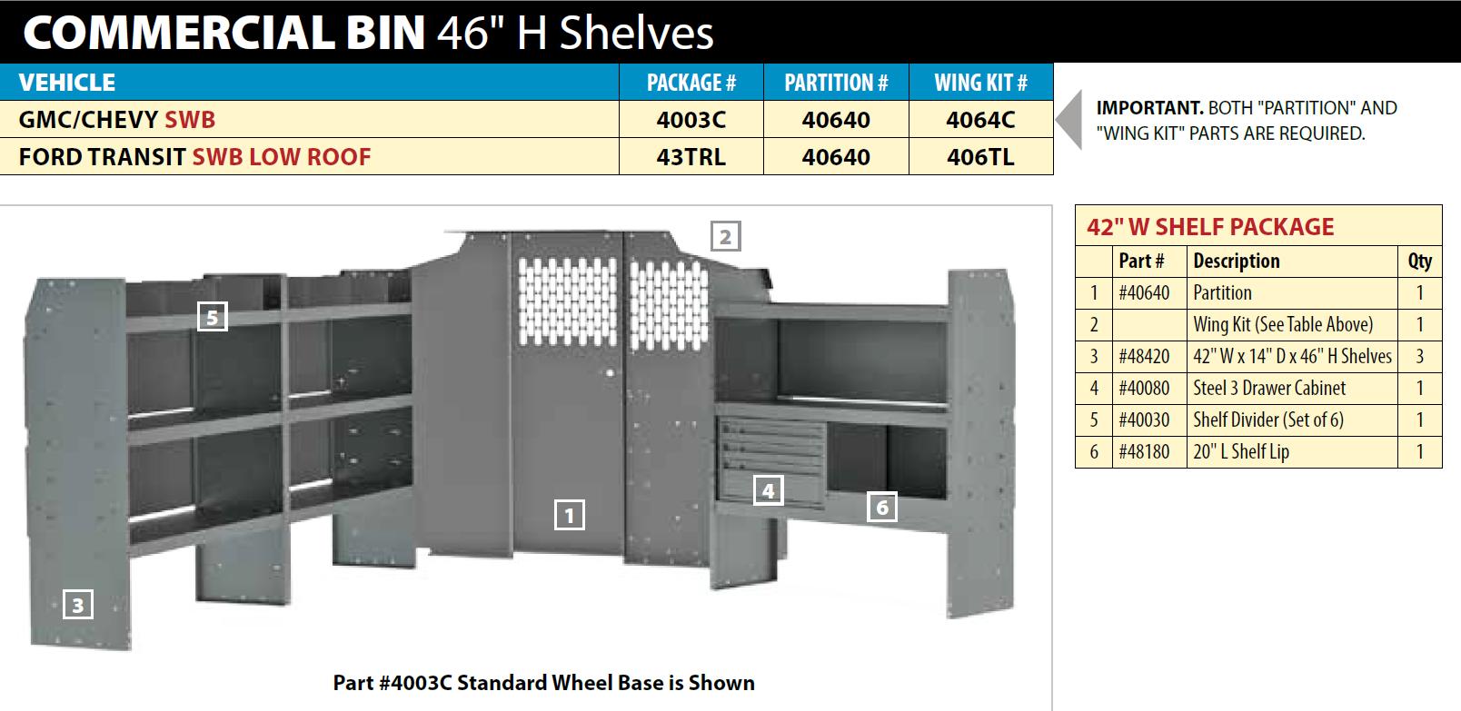 Commercial Van Shelving Package