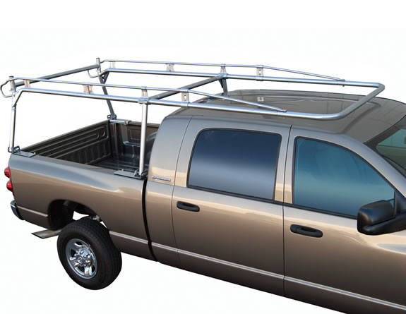 Aluminum truck rack on pickup