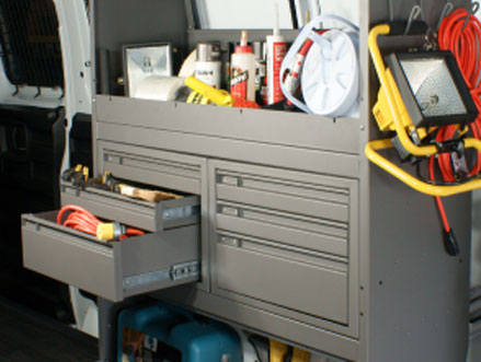 steel drawer cabinets for commercial vans