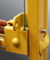 work platform lock pins