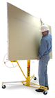 Telpro Panellift drywall lift with sheetrock