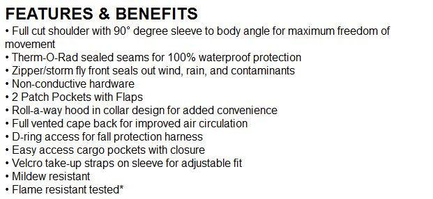 comfort brite FR coat features