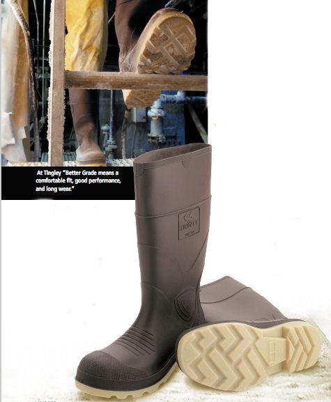 PVC rubber knee boots