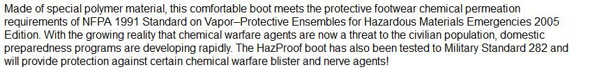 hazmat boots description