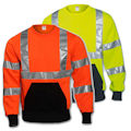 Class 3 High Visibility Crew Neck Sweatshirt - Inventory Clearance