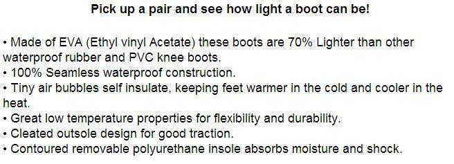 lightweight rubber knee boots