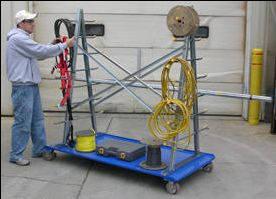 a-frame rack cart
