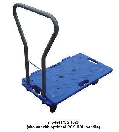 Plastic dolly steel handle