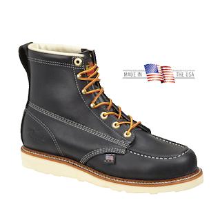 8d1a36e8aca Thorogood Black Moc-Toe Work Boots 814-6201