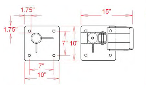 P10 Portable Crane Base Dimensions