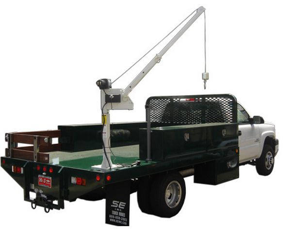 flatbed truck crane
