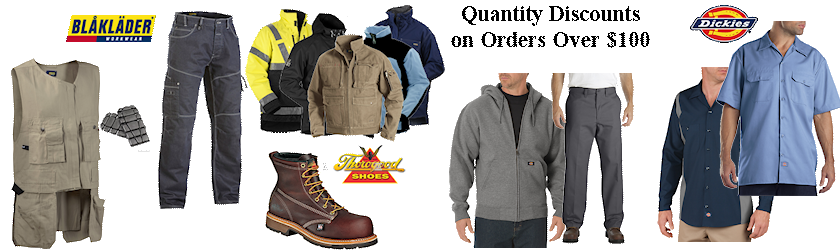 work clothing quantity discounts